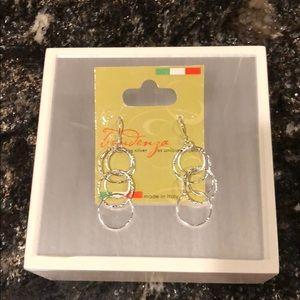 Disney NWT Sterling Silver Italian Earrings